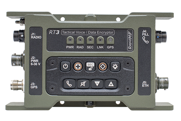 RT3 Tactical Voice & Data Encryptor - Front