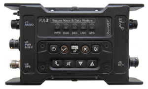 RA3 Secure Voice & Data Modem / Vehicular. For use by first responders, security agencies, governmental and paramilitary users